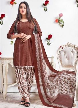 Crepe Silk Trendy Patiala Suit