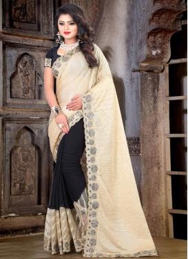 Crush Half N Half Designer Saree For Ceremonial