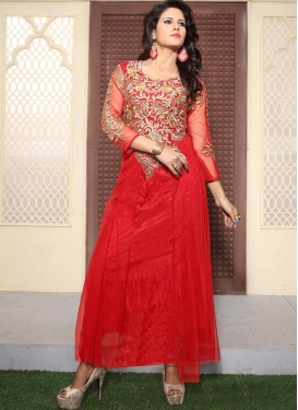 Customary Beads And Stone Work Designer Readymade Gown
