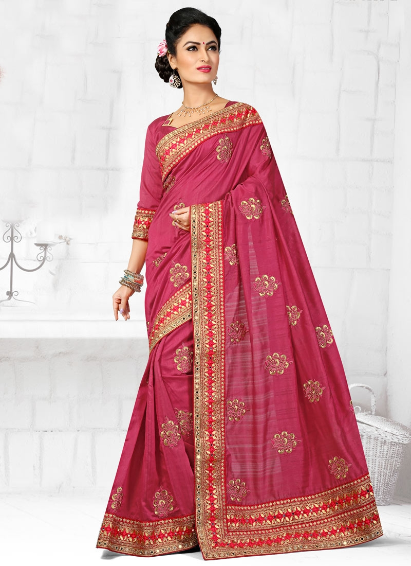 Customary Booti Work Designer Saree