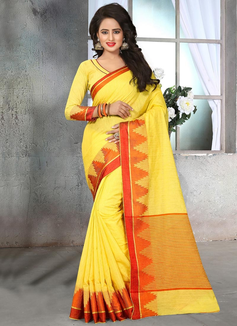 Customary Cotton Silk Trendy Classic Saree