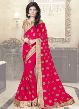 Customary Faux Georgette Contemporary Saree
