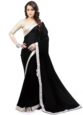 Customary Lace Work Classic Saree For Casual