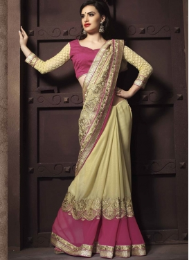 Customary Resham And Stone Work Designer Saree