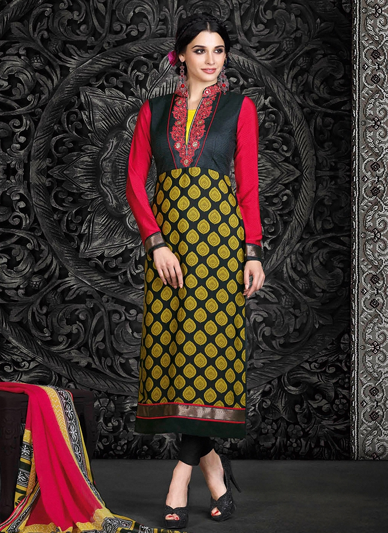 Customary Resham Work Pant Style Pakistani Suit