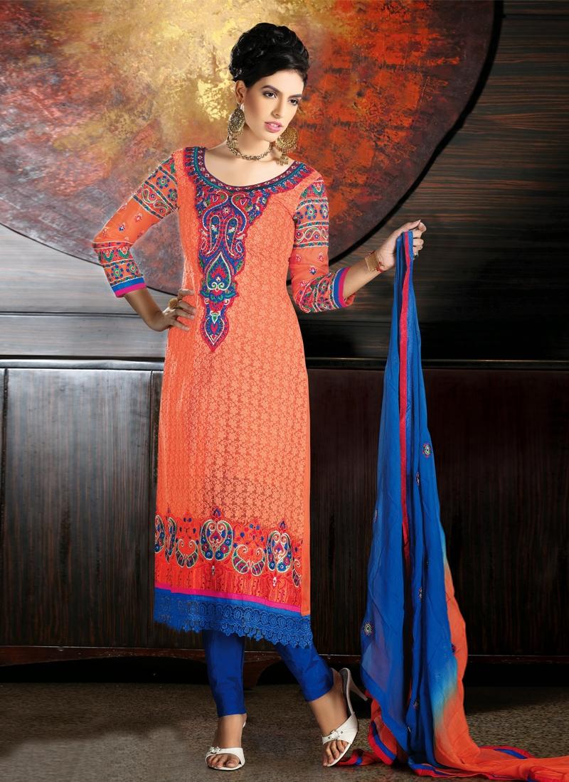 Cutdana And Resham Work Party Wear Salwar Suit