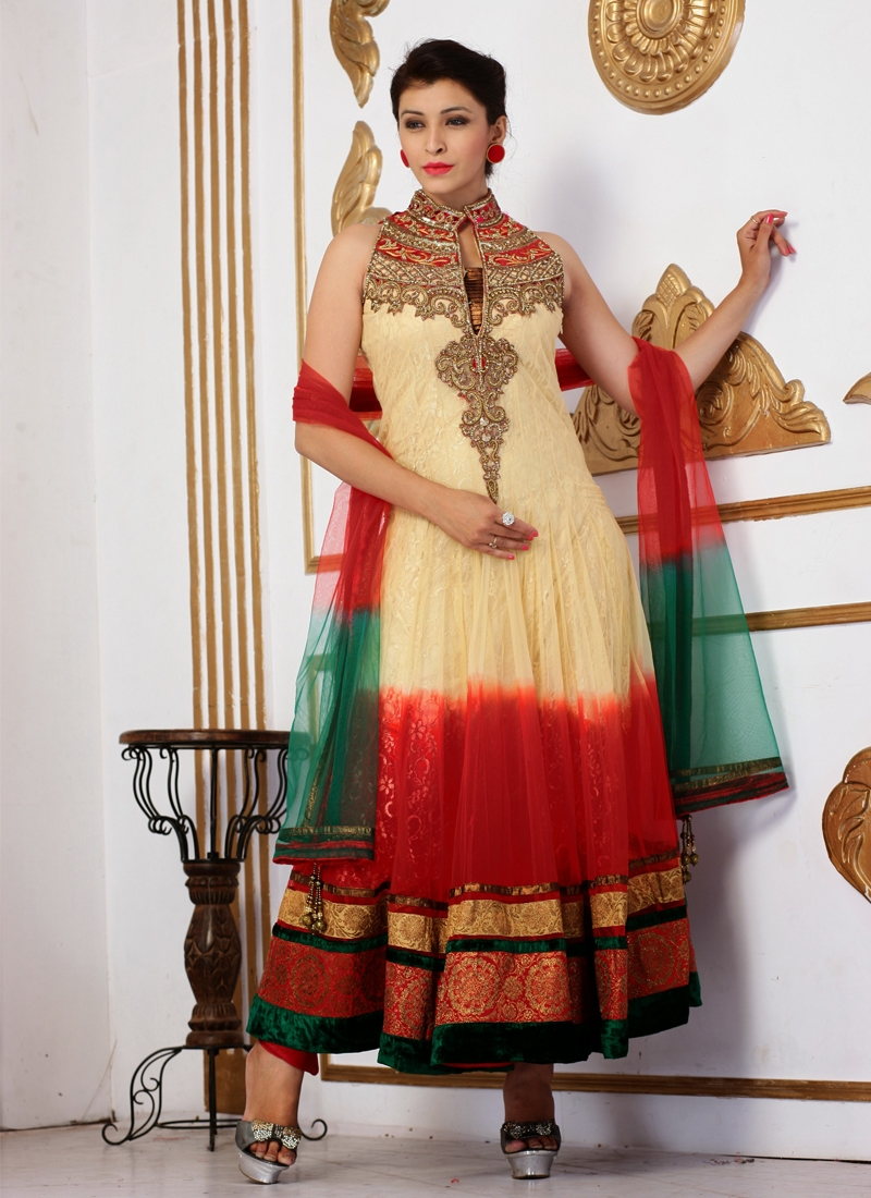 5a3d8f1c8edb Cutdana And Sequins Work Readymade Anarkali Suit
