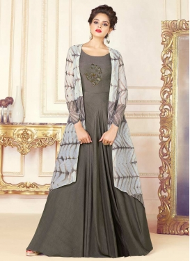 Cutdana Work Floor Length Gown