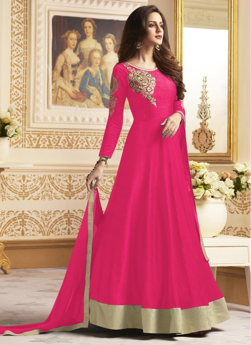Cutdana Work Long Length Anarkali Salwar Suit