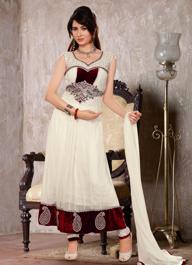 Cutdana Work Readymade Anarkali Salwar Suit