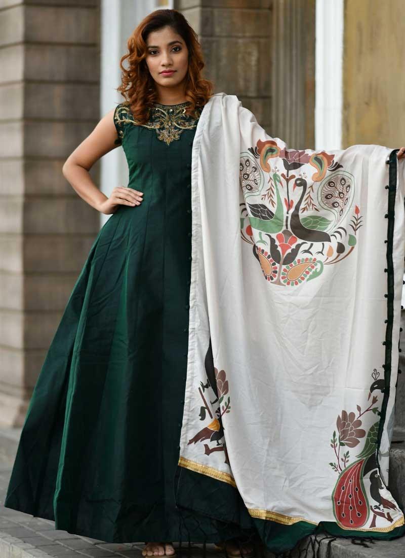 Cutdana Work Readymade Long Length Gown