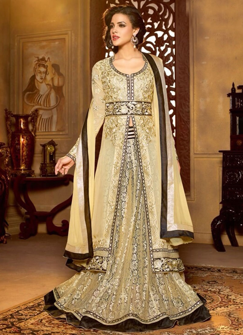 Cute Multi And Jaal Enhanced Designer Lehenga Choli