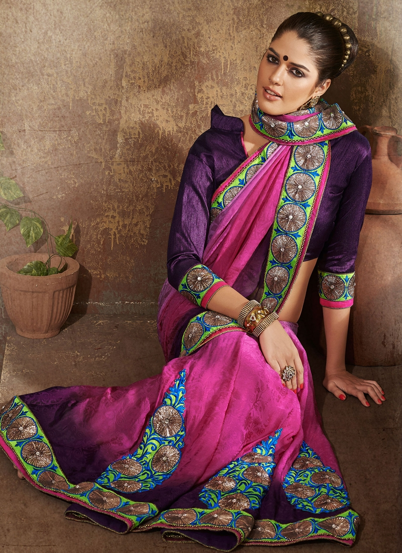 Dainty Bead Enhanced Party Wear Saree