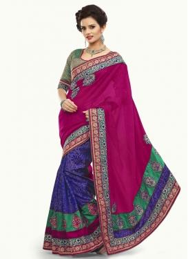 Dainty Bhagalpuri Silk Half N Half Designer Saree