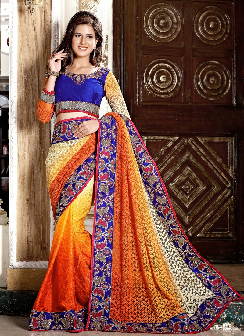Dainty Jacquard And Super Net Designer Saree