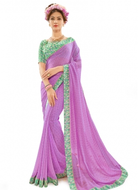 Dainty Lace Work Contemporary Style Saree