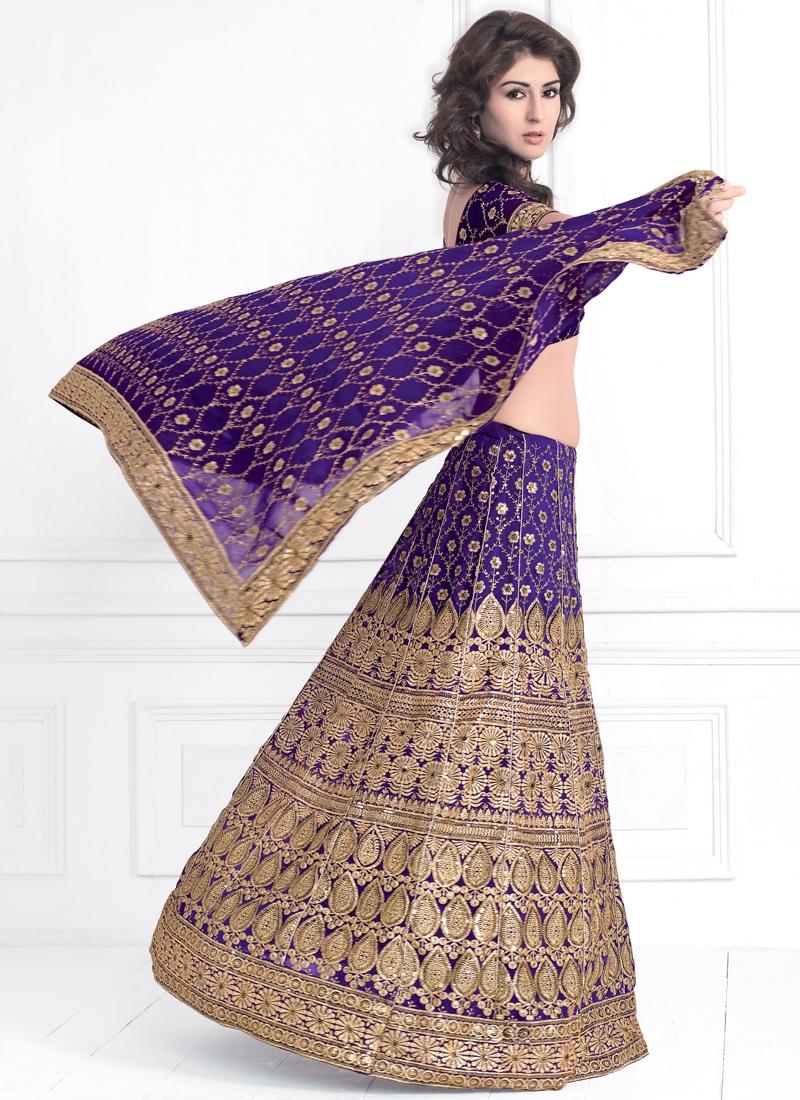 Dainty Purple Party Wear Lehenga Choli