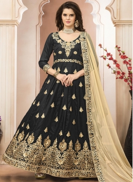 Dashing Booti Work Long Length Anarkali Salwar Suit