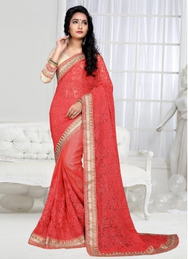 Dashing  Embroidered Work Traditional Saree
