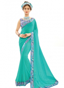 Dashing Faux Georgette Classic Saree