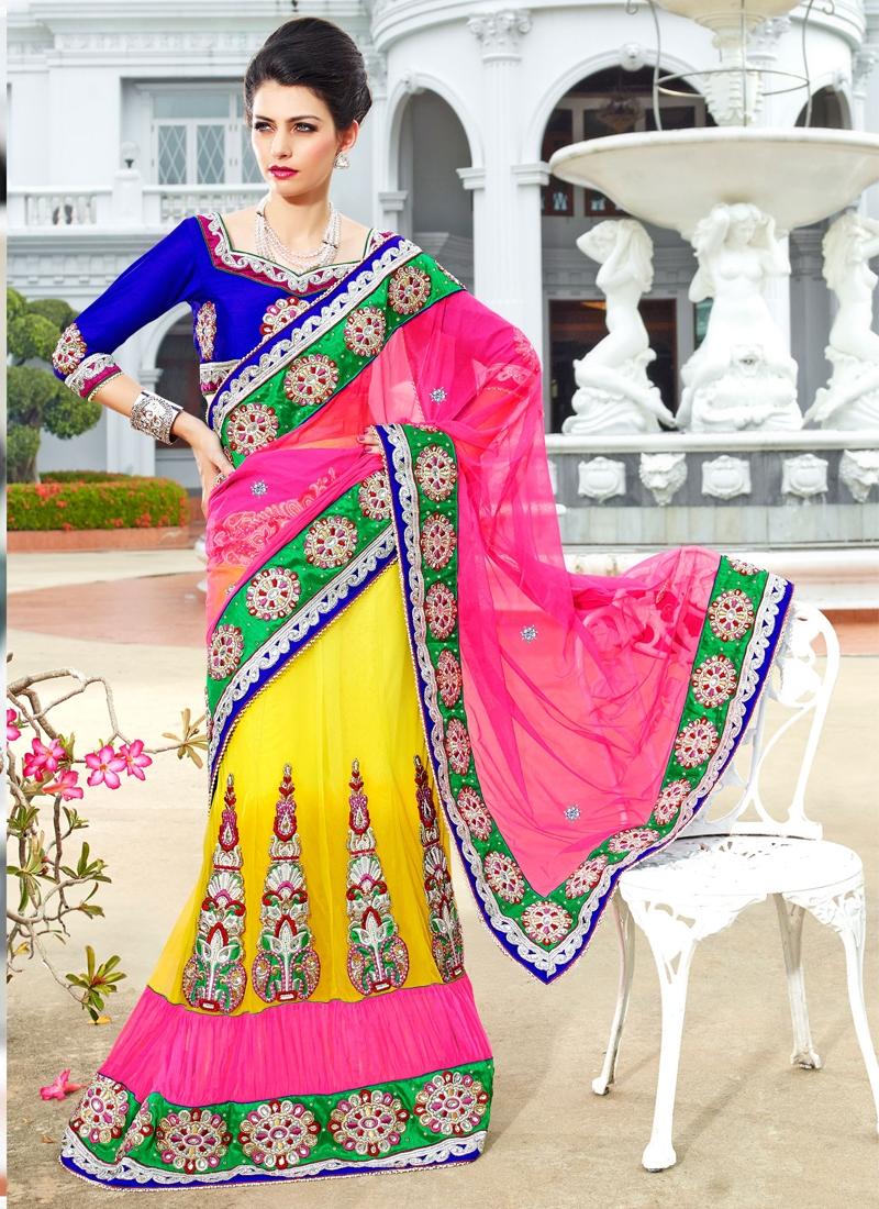 Dazzling Booti Enhanced Lehenga Saree
