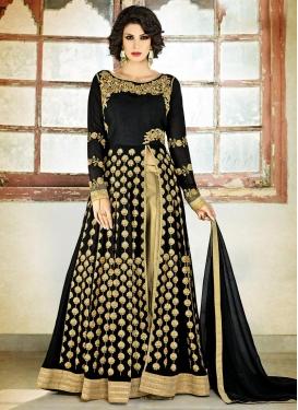 Dazzling  Embroidered Work Pant Style Designer Salwar Kameez