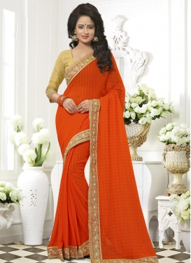 Dazzling  Faux Chiffon Trendy Saree For Ceremonial