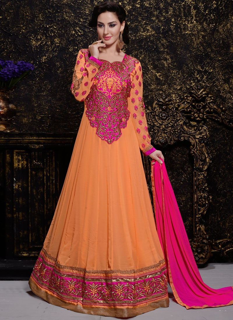 Dazzling Multi Work Long Length Anarkali Salwar Suit