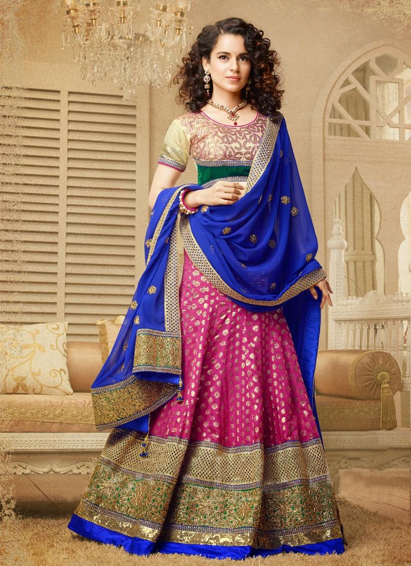 Dazzling Silk And Jacquard Wedding Lehenga Choli