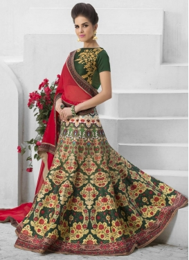 Dazzling  Silk Digital Print Work A Line Lehenga Choli
