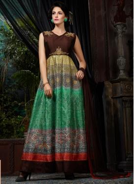 Debonair Banglori Silk Readymade Designer Gown