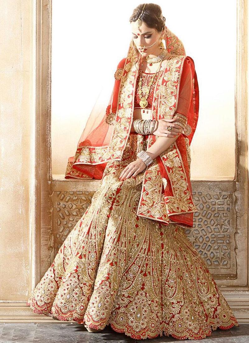 Debonair Banglori Silk Stone Work Bridal Lehenga Choli