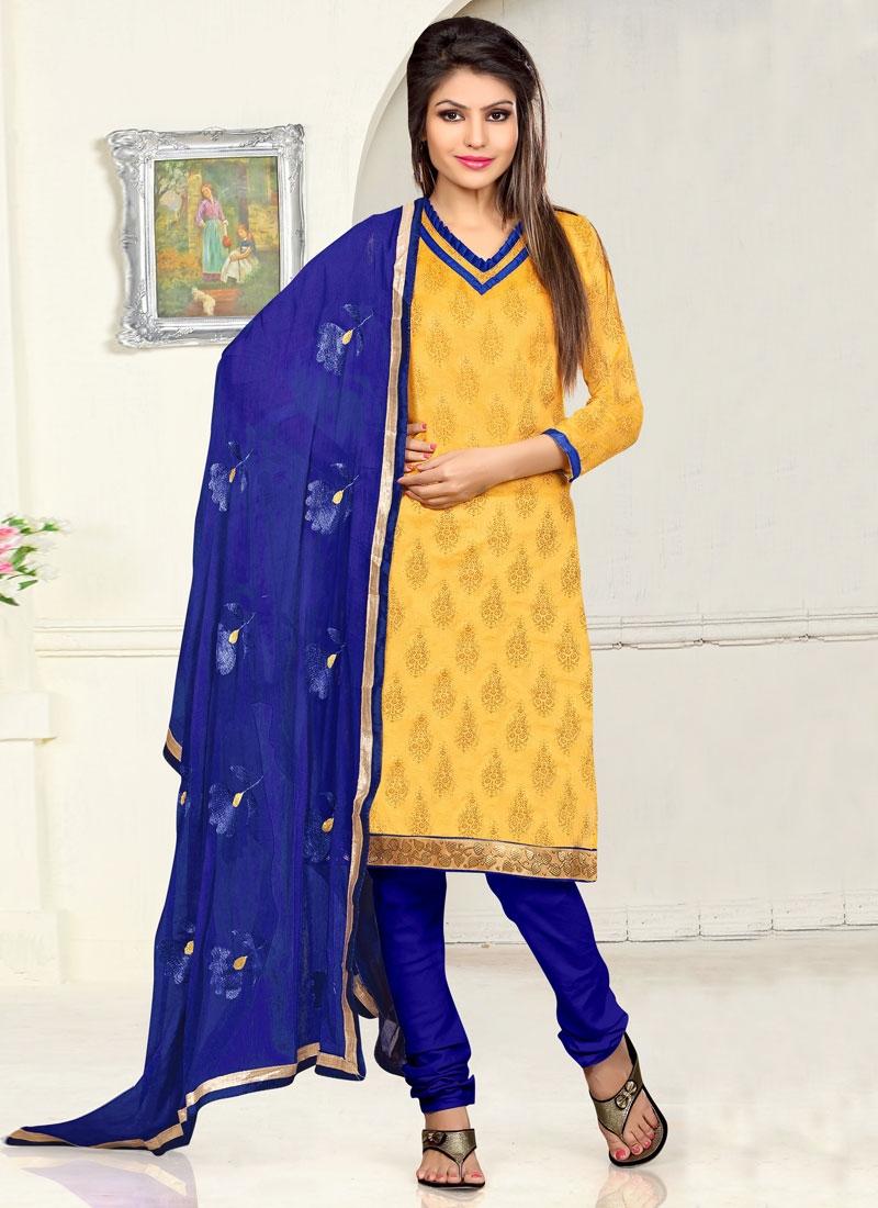 Debonair Lace And Resham Work Casual Salwar Kameez