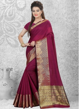 Debonair Resham Work Cotton Silk Contemporary Saree
