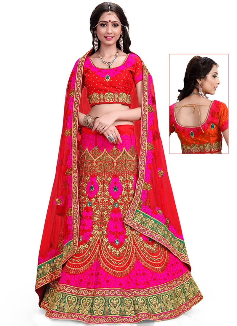 Debonair Stone And Resham Work Bridal Lehenga Choli