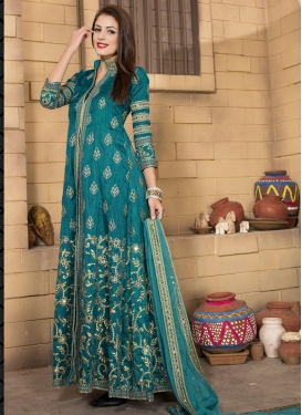 Delectable Banglori Silk Embroidered Work Trendy Designer Salwar Kameez