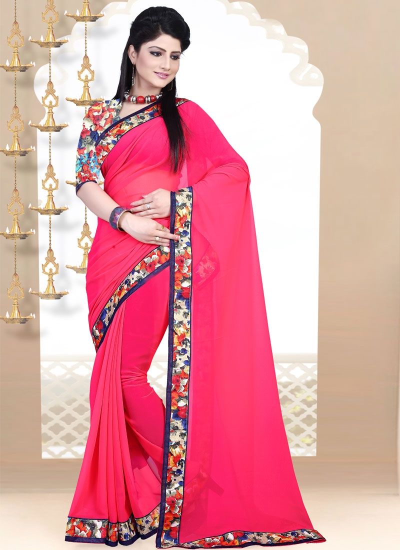 Delectable Faux Georgette Casual Saree
