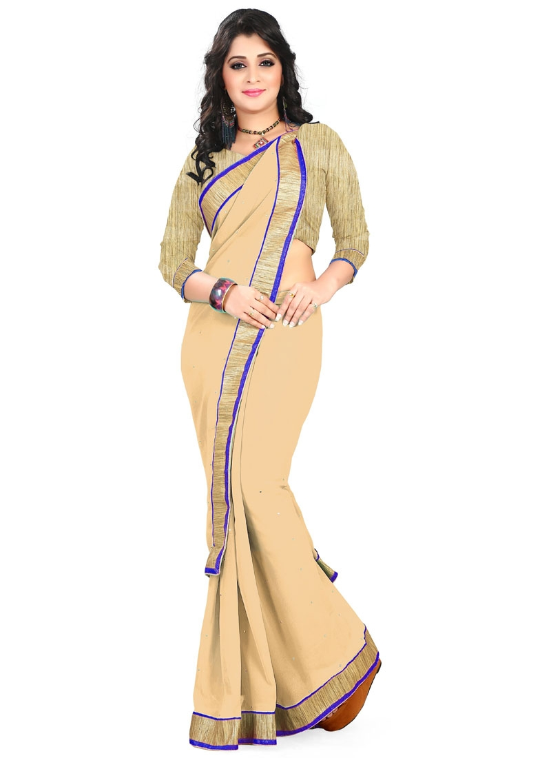 Delectable Faux Georgette Stone Work Casual Saree