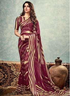Delectable Faux Georgette Traditional Saree For Casual