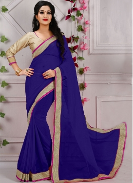 Delectable Navy Blue Color Casual Saree