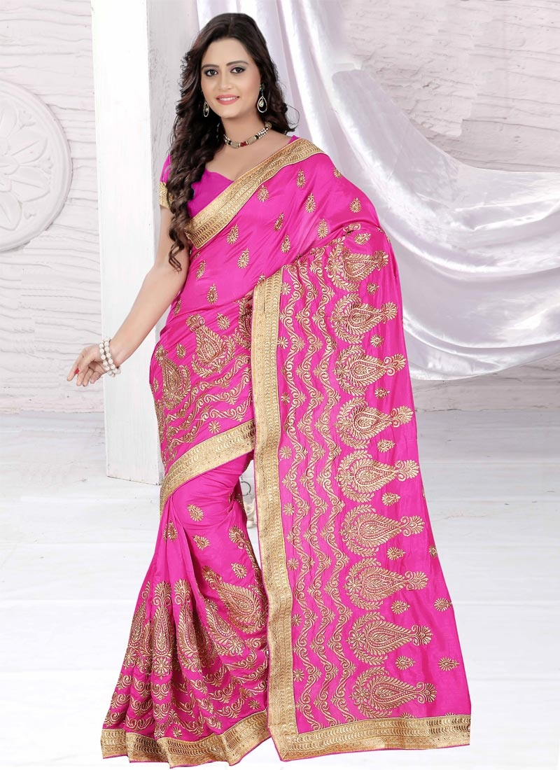 Delectable Resham And Lace Work Party Wear Saree