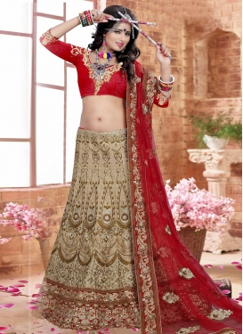 Delightful Embroidered Work Silk Trendy A Line Lehenga Choli