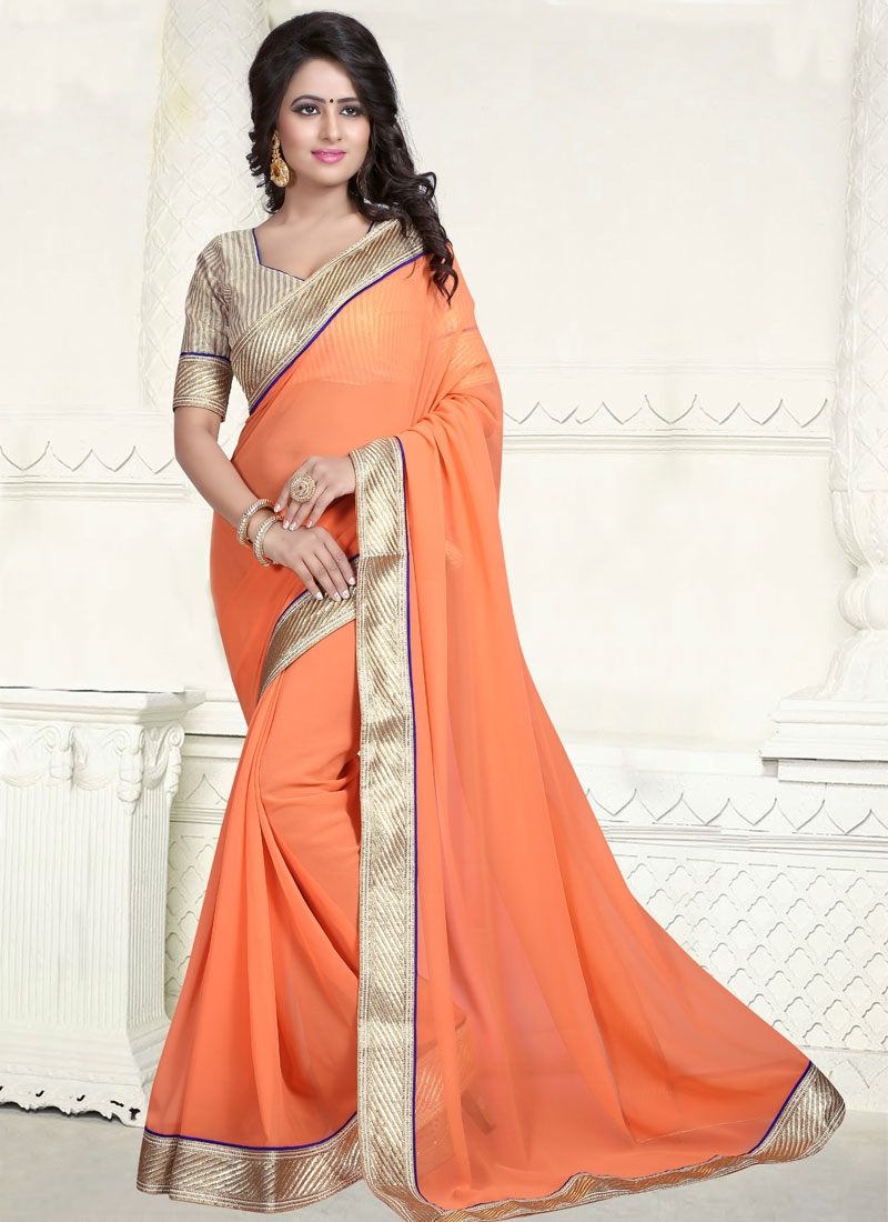 Delightful Faux Georgette Casual Saree