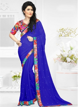 Delightful Faux Georgette Trendy Classic Saree