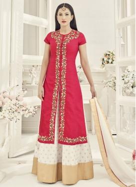Delightful Gauhar Khan Art Silk Kameez Style Lehenga Choli