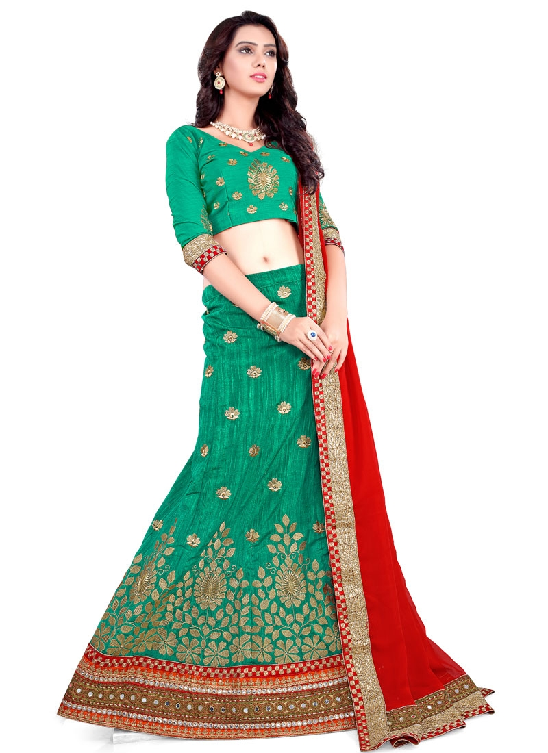 Delightful Patch Border Work Designer Lehenga Choli