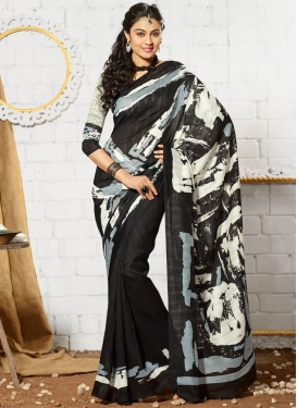 Delightsome Art Silk Digital Print Work Casual Saree