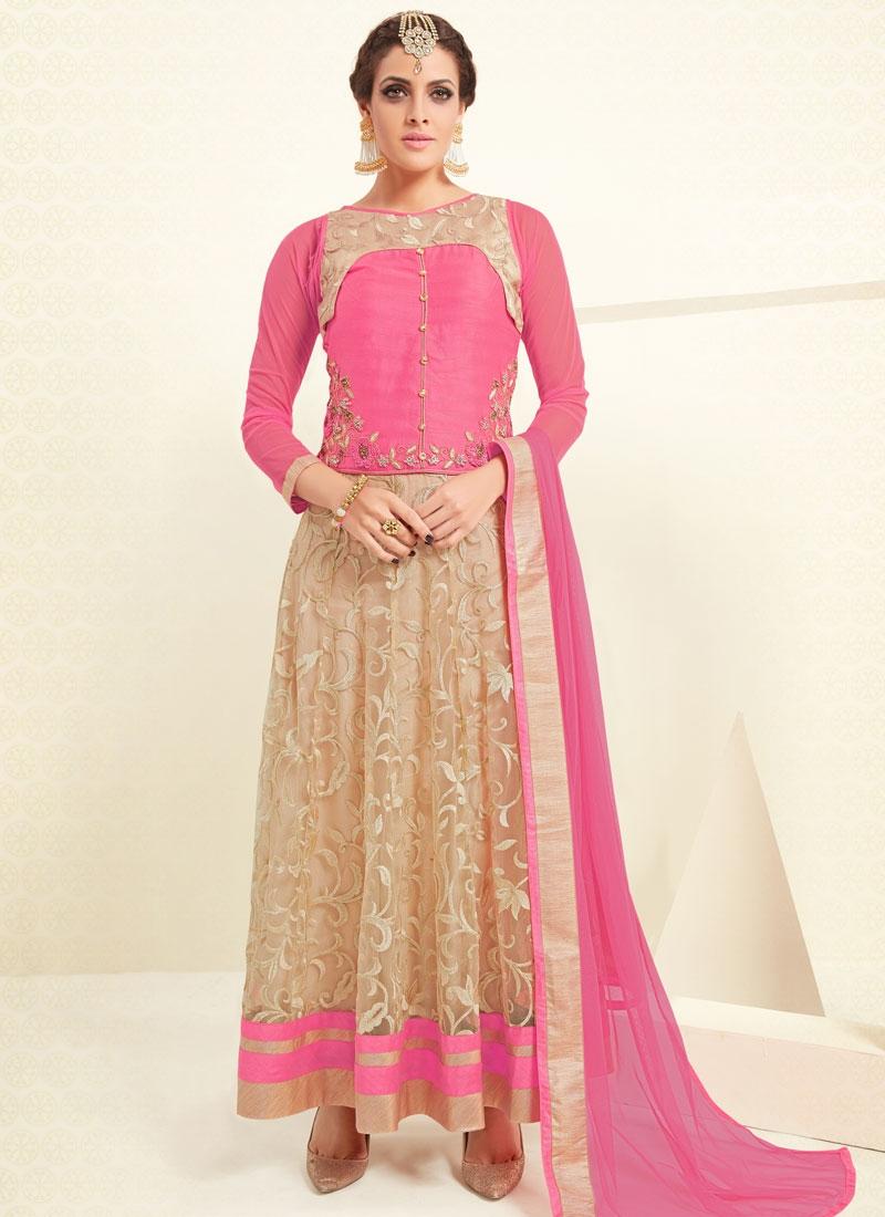 Delightsome Banglori Silk And Net Party Wear Salwar Kameez