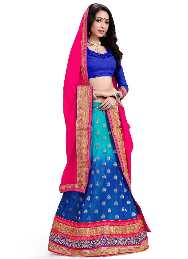 Delightsome Blue Color Viscose Designer Lehenga Choli