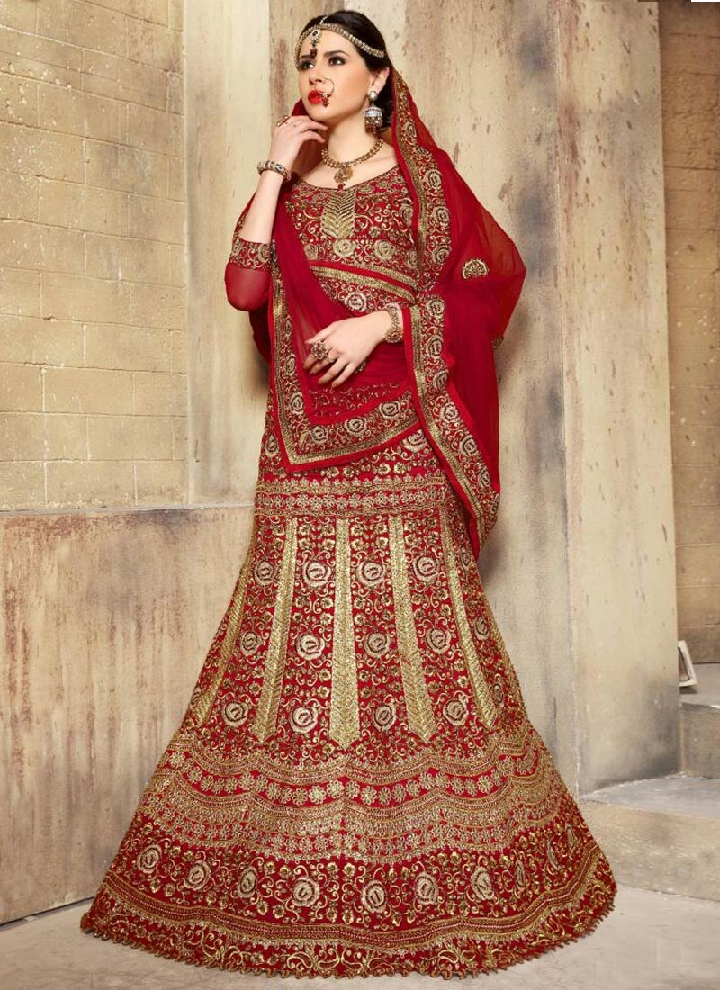 Delightsome Embroidery Work Bridal Lehenga Choli